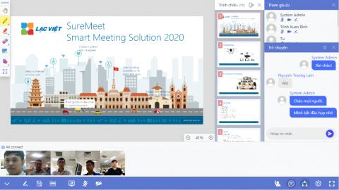 Dịch vụ họp trực tuyến SureMeet